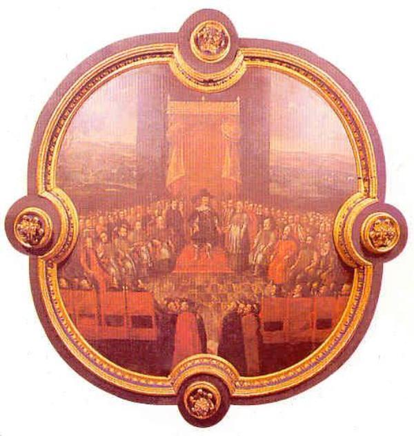 obraz: sąd nad arianami